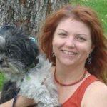Tammy holding dog